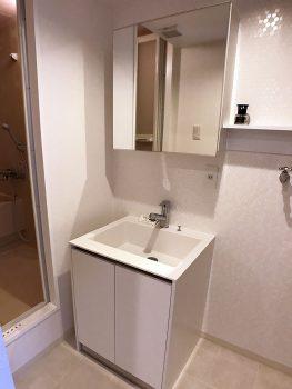 洗面台は新たに設置