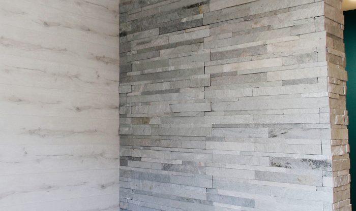 ビッグバーンズマンション北郷ⅢA 202号室 ヨーロッパの建造物を彷彿とさせる石壁