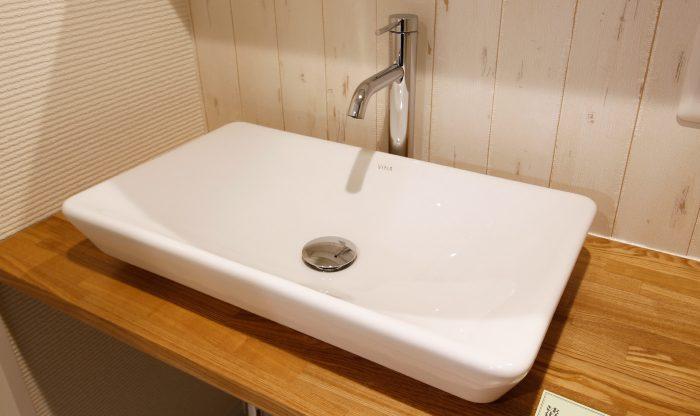 ビッグバーンズマンション北郷ⅢA 202号室 洗面台シンクと天板