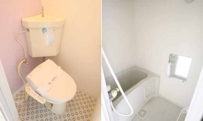 パレス麻生B棟 201号室 トイレ&バスルーム